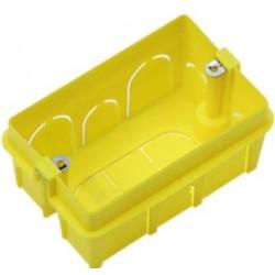 Scatola combinata volume maggiorato con inserti filettati in ferro  3 moduli colore giallo