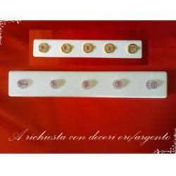 STAGGIA A 5 LED BIANCHI CON BATTERIE - ELETTRONICA