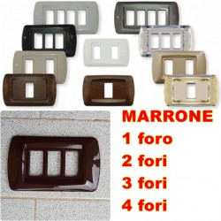 PLACCA MARRONE IN ABS PER SCATOLE RETTANGOLARI SERIE ECLIPSE