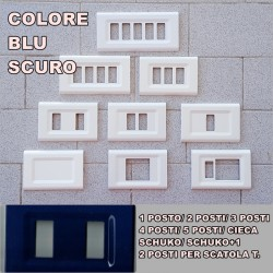 PLACCA BLU SCURO IN ABS PER SCATOLE RETTANGOLARI SERIE ELITE